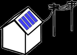 abri monopente panneaux solaires